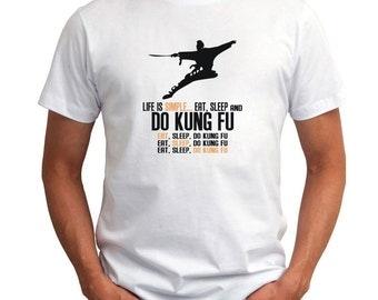 Life Is Simple  Eat, Sleep And Kung Fu T-Shirt