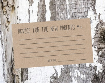 Baby Advice Cards /  For Parents to Be - Packs of 15+