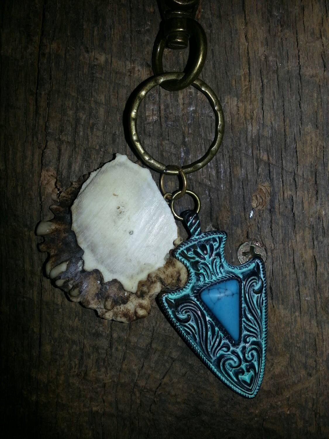 Key chain deer antler key chain antler key by theperfectrackbymj - Antler key rack ...