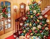 Vintage Christmas Tree Digital Image