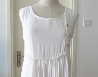 white dress spring dress autumn dress summer dress women clothing women dress Sweet dress cotton dress bargain price