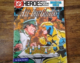1987 DC Heroes Booster Gold Role Playing Game Module 207.  All that Glitters.  FN/VF.  Mayfair Games