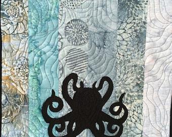 Steampunk Style Octopus Table Runner