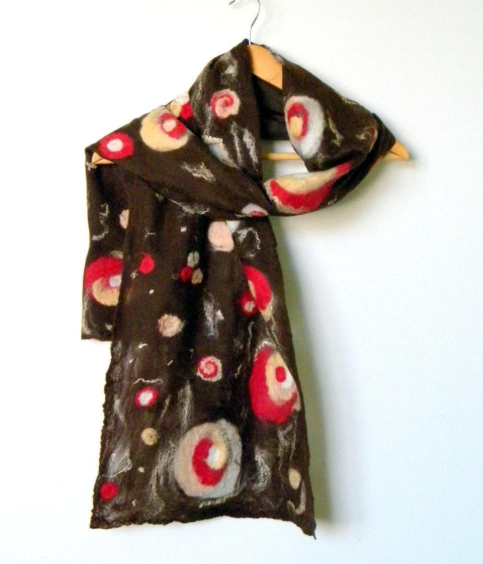 nunofelted scarf felted scarf felted wool scarves by