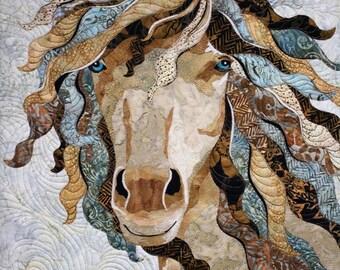 "Horse Textile Art ""Simplicity"""