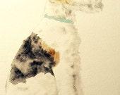 82 Fox Terrier Painted Sketch card