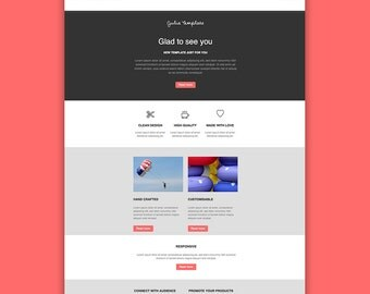 email newsletter template design