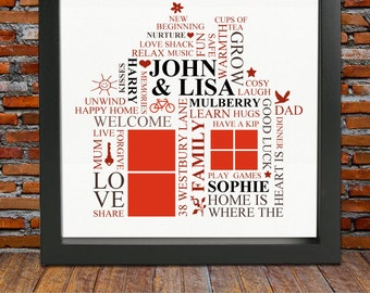 Housewarming gift - personalized housewarming gift, first home, housewarming, new home gift, new home, gift for parents, christmas gift