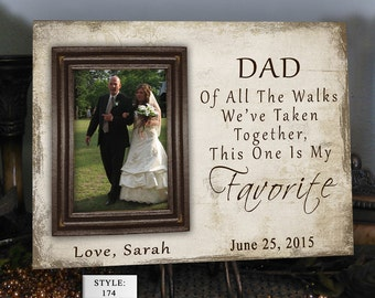 FAV/DAD Father of the Bride Gift Favorite Walk Bridal Wedding Frame Personalized Custom Bridal Frame Wedding Gifts for Dad Picture Frame