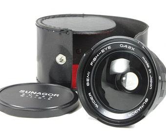 Sunagor 0.42x Semi Fisheye Macro Lens Converter Series VII w/ Case