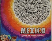 "1950s Mexico Travel Poster ""Pride of Indian Culture"" - Original Vintage Poster"