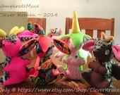 Custom made standing Bunny, Rabbit, Jackrabbit, Angel Bunny, Jackalope, Wolpertinger, Bunnicorn, or Ali-Bunnicorn, plush doll