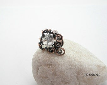 Copper Ring, Wire Wrapped Jewelry Handmade, Adjustable Wire Ring, Copper Wrapped Ring, Adjustable Copper Ring, Wire Jewelry Handmede