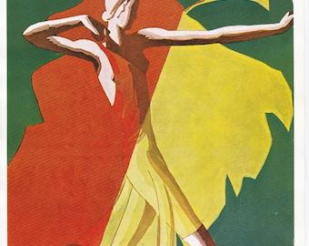 Vogue Magazine Cover 1932 art deco art nouveau home decor print fine art fashion vintage from 1981