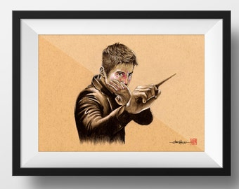 Bin Won as Cha Tae-Sik from The Man From Nowhere  - Illustrated Giclee Print