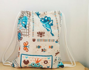 Frogs backpack,Baby backpack,children backpack, kids backpack,children bag, baby bag, kawaii bag, school bag,lunch bag,clothes baby bag