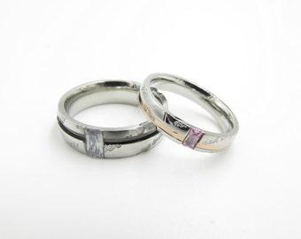 2pcs,zircon ring, engagement rings, wedding ring, couple ring, promise ring, free engraving,