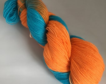 Hand Dyed Sock Yarn - Superwash - 4ply 400m