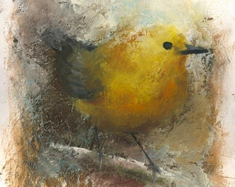 """ORIGINAL Oil Painting , Birds, Oil on Stretched Canvas, Fine Art, Realistic, 16""""x12"""", unframed"""