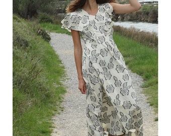 Bohemian maxi dress vintage inspired by Laura Vanvolsem // vintage inspired // BOHEMIAN maxi dress // size us6