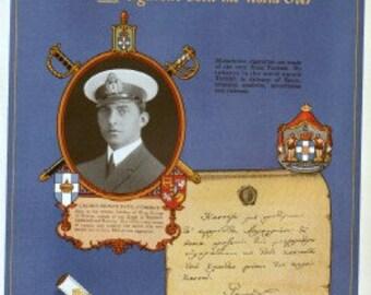 Melachrino cigarettes ad, featuring Crown Prince Paul of Greece, Cosmopolitan magazine, 1930s original, VG condition, 9x11 in.