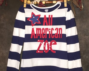 Personalized All American T-Shirt for the Fourth of July