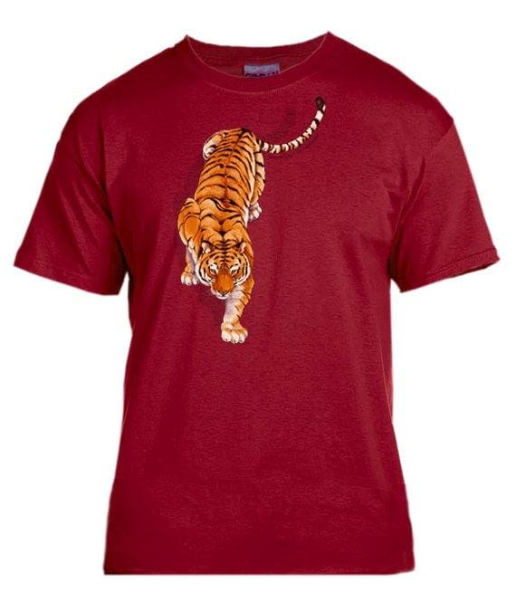 Siberian Tiger cardinal red t-shirt Cute Siberian Tiger Shirt