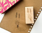 Lavender Rubber Stamp - Botanical Stamp - Handdrawn Rubber Stamp - Herb Stamp - Plant Stamp - Floral Stamp - Apothecary Stamp - Snail Mail