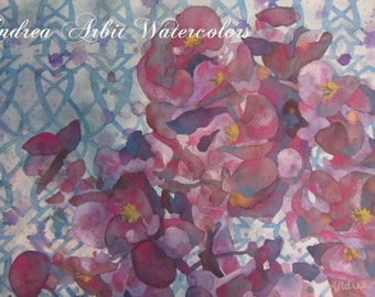 """L'eau de Parfum (15""""x22"""" Watercolor Painting)"""