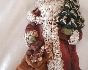Vintage Father Christmas Santa Resin Christmas Tree Ornament