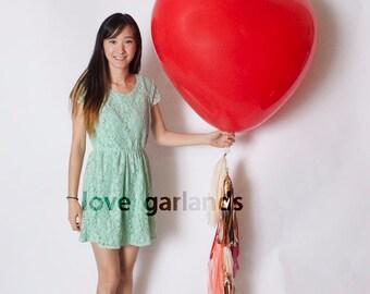 """36"""" Heart Balloon Fringe"""