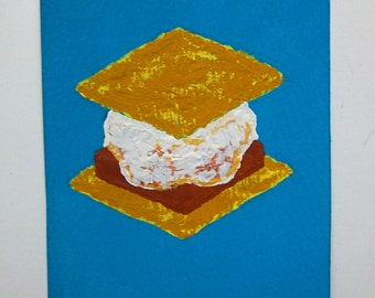 "Have S'more #86 (ARTIST TRADING CARDS) 2.5"" x 3.5"" by Mike Kraus Free Shipping"