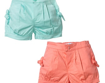 Bubble Shorts in mint or coral for Baby Girls