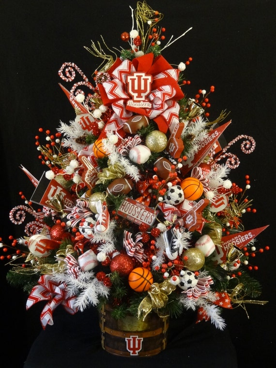 Indiana university small lighted christmas by
