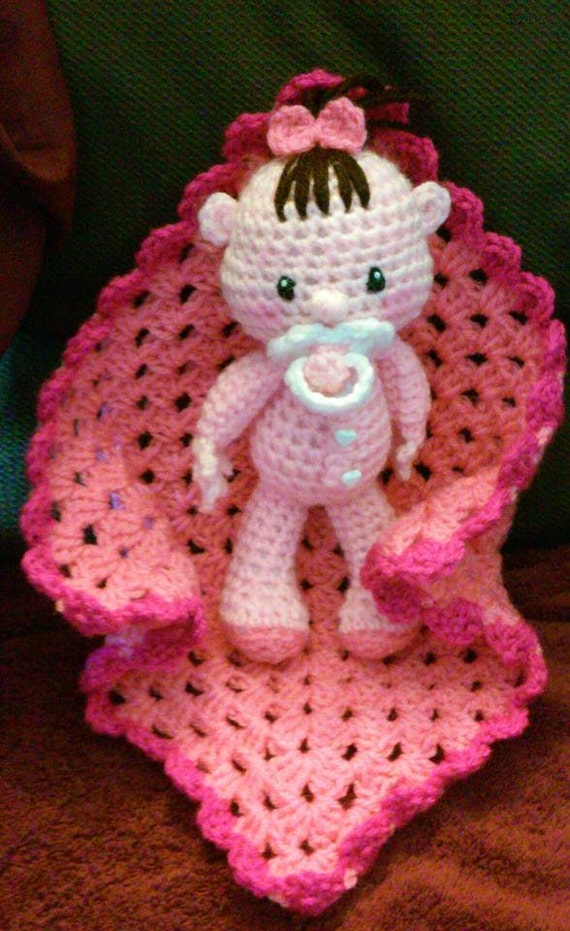 Items similar to Crochet Amigurumi 9 Inch Baby Doll With ...
