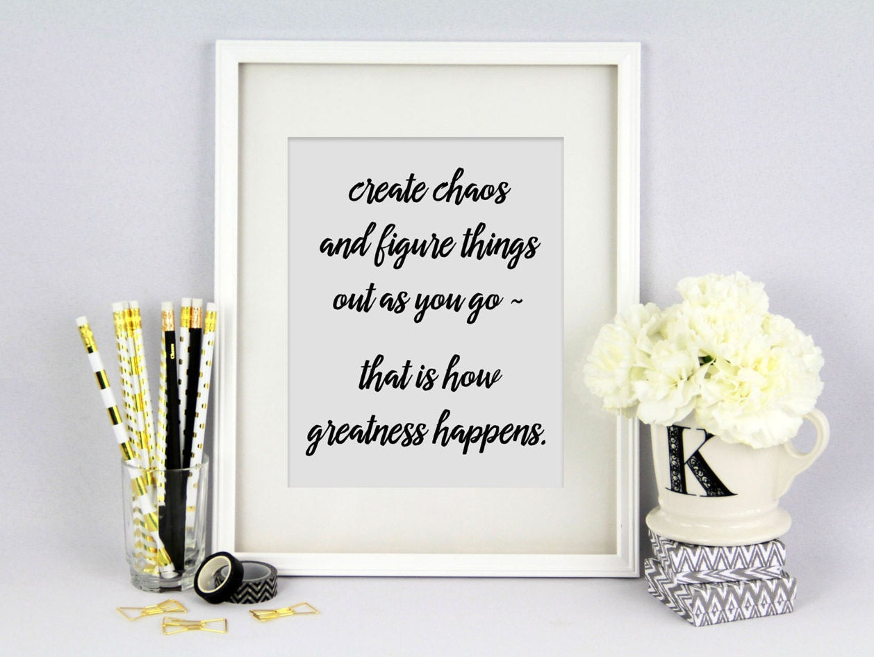 Printable DIY Home Decor Inspirational Quote by