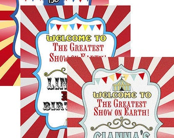 Rustic Styled Big Top Vintage Circus Sign - Carnival Welcome Sign great for birthday parties or circus parties, vintage carnival
