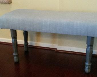 Upholstered Bench - Grey Linen