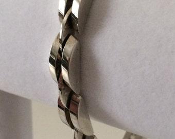"""Sterling Silver Chunky Bracelet 7 1/2"""""""