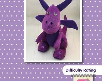 Dragon Soft Toy Sewing Pattern, Stuffed animal, Plushie, Softie