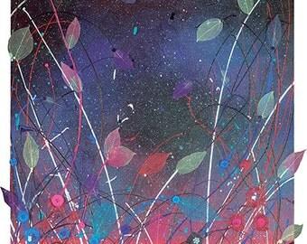 Original Mixed Media Canvas 'Springtime Snooze' 50x100cm, by Sarah Wake