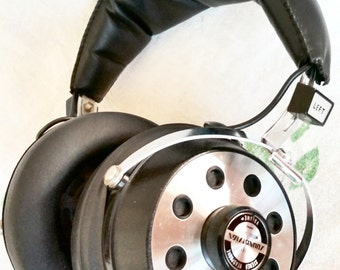 Vintage Stereo Headphones, Corded headphones, Retro musical equipment, Music Studio equipment, Music Recording, Sound Design model 338