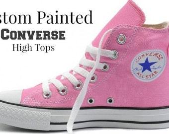Custom Men's Women's Converse, Painted Shoes, Wearable Art, Painted Sneakers, Custom Chucks Taylors, Hand Painted Shoes, Custom Converse