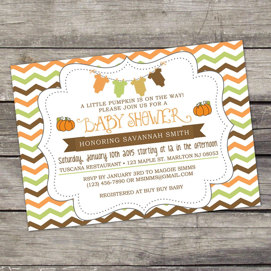 we print fall baby shower invitations a little by partyprintery