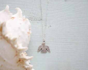 Thunderbird Necklace - Silver Thunderbird Necklace - Antique Silver Native American Necklace - Vagabond Jewellery - Gypsy Necklace