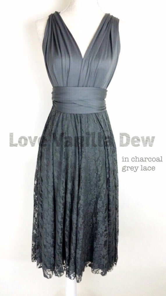 Bridesmaid Dress Infinity Dress Charcoal Grey By