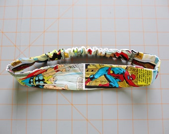 Marvel Superhero Comic Strip Print Cotton Elastic Headband