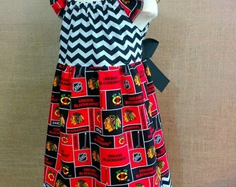 NHL Chicago Blackhawks Girls Dress Size 6/9M -8