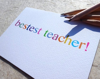 End Of Term Card - Teacher Thank You - Teacher Card - Thank You Teacher - Teacher Appreciation - Best Teacher Card - Teacher Gift - School