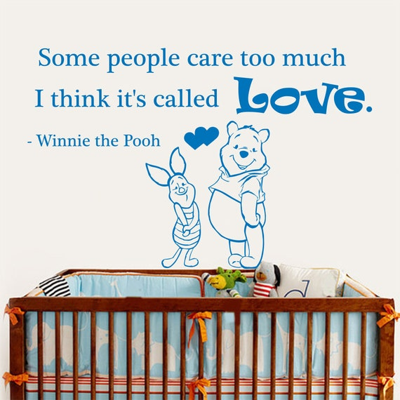 Winnie The Pooh Wall Quotes: Winnie The Pooh Wall Decals Love Quote Some People Care Too